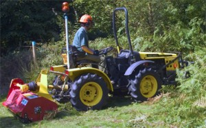 tractor with 1.5m flail mower